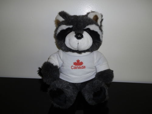Vintage RACCOON Long Plush 13 inch Stuffed Animal House BC Canada Vinyl Claws