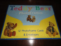 11 Antique Teddy Bear Photo frames Cards & Envelopes Boxed Set