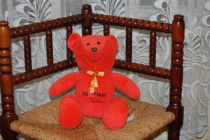 Six Flags Holland Europe Orange Teddy Bear 1998-2004 LBI UK