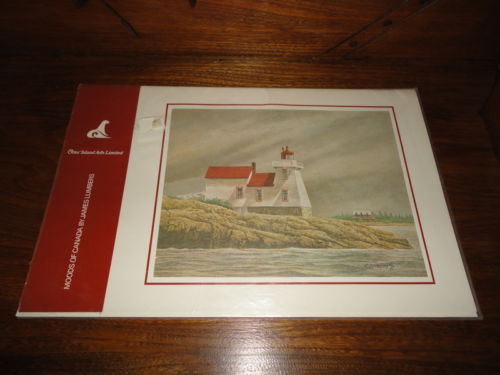 Canadian Artist James Lumbers MOODS OF CANADA 6 Print Set Bagged 1980