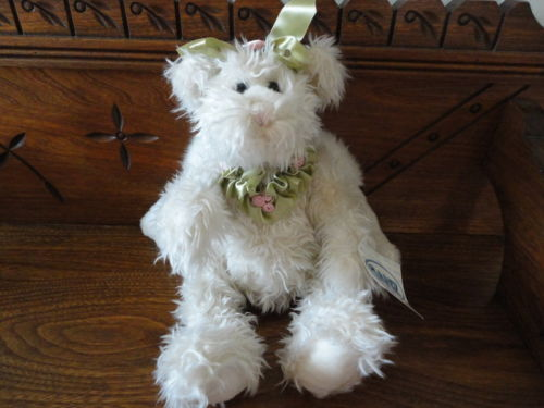 Ganz Pets ROSEWATER Bunny Rabbit Angel Bear Jointed Plush w Tag H5252 Retired