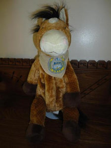 "Talking Horse Backpack Horsemens Benevolent Protective Assoc Ontario 20"" HBPA"
