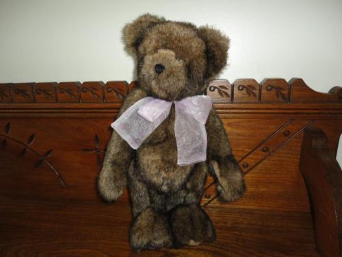 "Boyds Charity Bear BROOKE B. ANGEL Starlight Childrens Foundation 13"" Faux Mink"