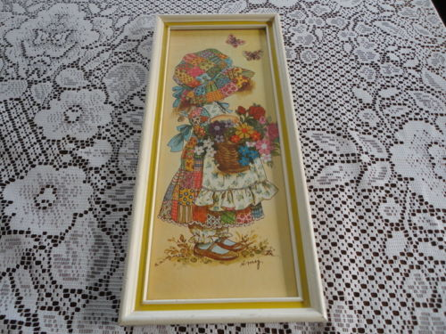 Artist AMY PATCHWORK GIRLS Made in Usa Turner Design Chicago Vintage Framed