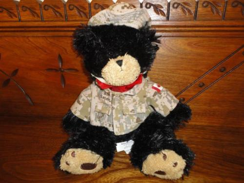 Canada Armed Forces BLACK BEAR Plush Silent Soldier Support Our Army