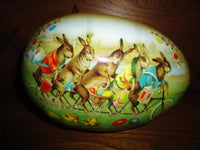 Nestler Made in Germany Famous Easter Egg Bunnies on Bike Chickens 18cm