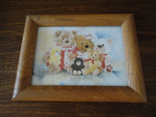 BC Artist Wendy Tosoff 1984 Teddy Bears Canadian Art Card Series Print