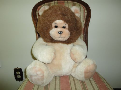 24K Mighty Star Polar Puff RORIE LION Large Chubby 16 inch 5857 1988 ADORABLE !