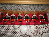 6 Wooden Nutcracker Soldiers Place Card Holders Bombay Co 1998 Boxed Set