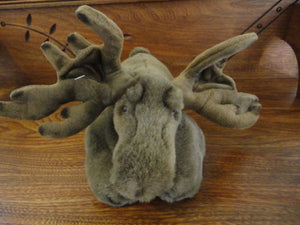 K&M Moose Stuffed Plush Airbrushed Detailing 14 inch 2011
