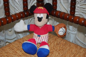 Mickey Mouse Baseball Player Doll Toy Starbean Arcotoys Disney Mattel