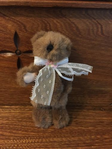 Cute Miniature Standing Brown Bear Jointed Arms & Legs 5.5 inch