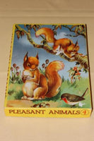 Vintage 1960s Wooden Jigsaw Puzzle 24 pieces 2 Squirrels Pleasant Animals Nr. 4