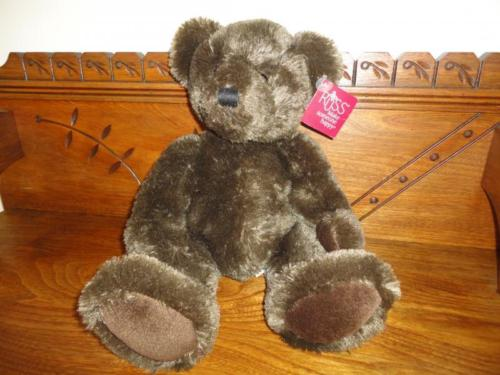 Russ Jefferson Bear Brown Plush 14 inch Item 34144 w Tags Retired