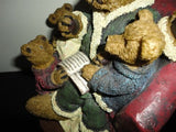 Father Bear Reading to Three Little Bears Statue Figurine 8 inch