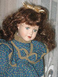 Vintage Porcelain Brunette Doll Lainey Europe 40 CM