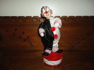 Berco Toronto Porcelain CLOWN Wind Up Musical Mechanical Figurine Hand Painted