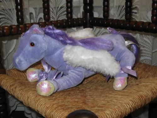 Nicky Toy Netherlands Purple Pony Plush With Wings 2007