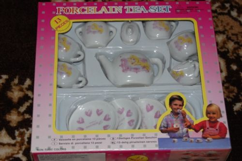 Dutch Spanish Sleeping Beauty Princess Porcelain Tea Set 13 Pieces NIB