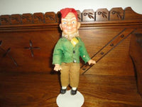Antique Republic of Ireland Leprechaun Gnome Doll Celluloid Felt Clothing
