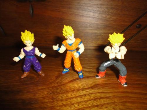 Dragonball Z Figures 1996 Lot of 3 Marked B.S. / S.T.A Rubber 2.5 inch