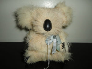 Antique Koala Real Fur Glass Eyes Stuffed Figure 6 inch