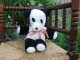 Vintage 1970s German Panda Bear Glass Eyes 16 Inch