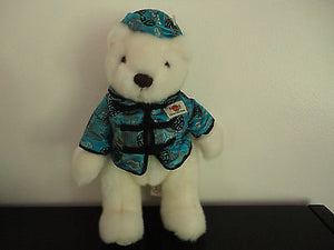 "Herrington HARD ROCK CAFE SHANGHAI Bear 11"" Full Satin Outfit Foot Dated 2003"