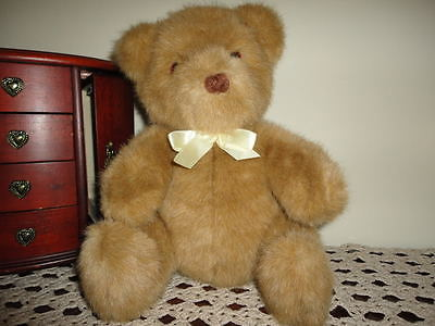 Dakin Brown Teddy Bear 10 Inch Sitting Yarn Stitched Nose 1990