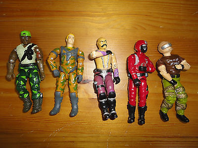 GI Joe Action Figures Mixed Lot 5 Hasbro 3.5 inch Assorted Characters Mixed M