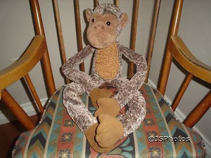 "Monkey Stuffed Plush Large Jumbo 28"" Dangling Toy Rare"