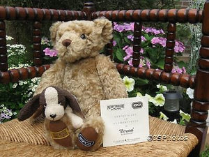 Merrythought Bruno Official RSPCA Bear and Russ Puddles