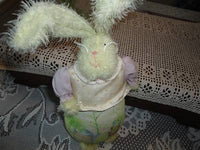 OOAK Easter Bunny Rabbit CANADA Artist Hand Painted Canvas Body Ornament