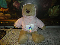 BABY GAP Teddy BRANNAN BEAR Limited Edition Pink Winter Jacket 14 inch w Tags
