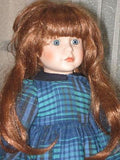 Vintage Porcelain Red Hair Doll Colleen 1992 YLM Europe 40 CM