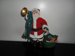 Christmas Santa Claus Clothtique Possible Dreams Mr Claus Figurine w Tag