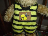 Ganz 1997 Buggable Bee Bear in Knitted Outfit
