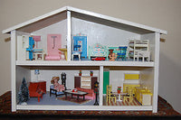 Old Vintage Dollhouse 1960s 1970s Jean Furniture