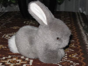 Dutch Sitting Gray Bunny Rabbit Plush