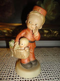 1988 Enesco Mabel Lucie Attwell of Memories Yesterday SPECIAL DELIVERY Figurine