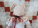 Handmade CANADA Artist Stuffed Cloth TEDDY BEAR 18 inch