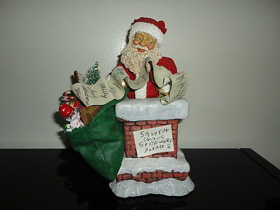 Christmas Vintage 1989 Clothtique Possible Dreams Santa in Chimney  713045