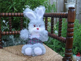 UK Bunny Rabbit Plaid Pants Stuffed Plush Toy