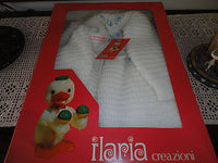 Vintage Child Knitted Dress 1973 ILARIA CREAZIONI ITALY Baby Girls Original Box