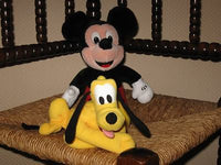 Euro Disney Europe Pluto Dog / Mickey Mouse Plush Toys