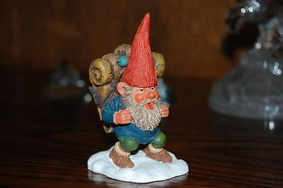 Rien Poortvliet Classic David the Gnome Statue John with Backpack New in Box