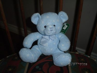 Russ Berrie Baby Bear with Rattle ~ Dots ~ # 21859