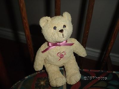 Avon Canada Breast Cancer Pink Ribbon Bear Rare HTF