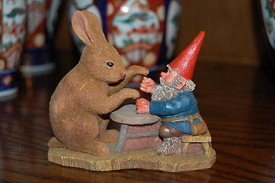 Rien Poortvliet Classic David the Gnome Statue Ollekebolleke with Rabbit