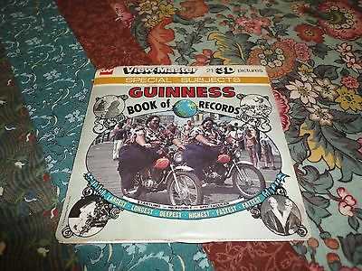 VTG 1978 View Master Special Subjects GUINNESS Book of RECORDS 3 Reels with Case